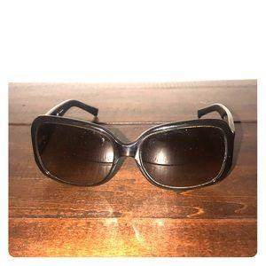 Tory Burch brown acrylic wide frame sunglasses